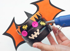 Halloween bat crafts make